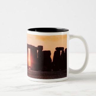 Stonehenge, Winter Solstice Two-Tone Coffee Mug