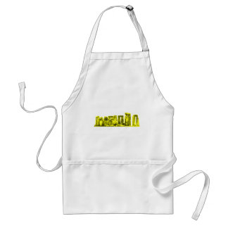 Stonehenge Yellow The MUSEUM Zazzle Gifts Standard Apron