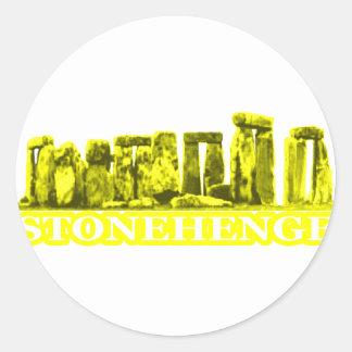 Stonehenge Yellow White The MUSEUM Zazzle Gifts Stickers
