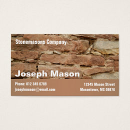 Demolition business cards business card printing zazzle uk stonemason business card colourmoves