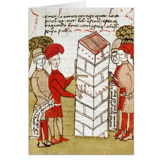 Stonemasons, from 'Traite d'Arpentage' Card