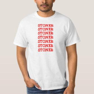 STONER STONER STONER SHIRT red