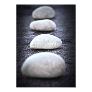 Stones 13 Cm X 18 Cm Invitation Card