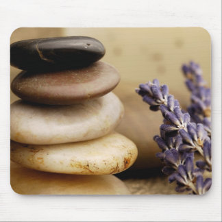 Stones and Lavender Mouse Pad