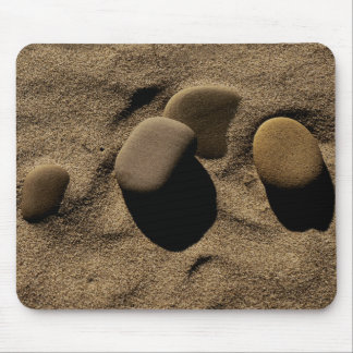 Stones in Sand Mouse Pad