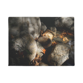 Stones, Maple Leaves, Water Doormat