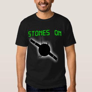 STONES ON Mens Black T-shirt