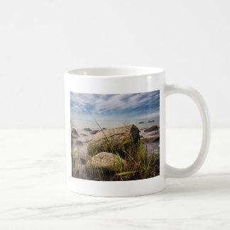 Stones on shore of the Baltic Sea Basic White Mug