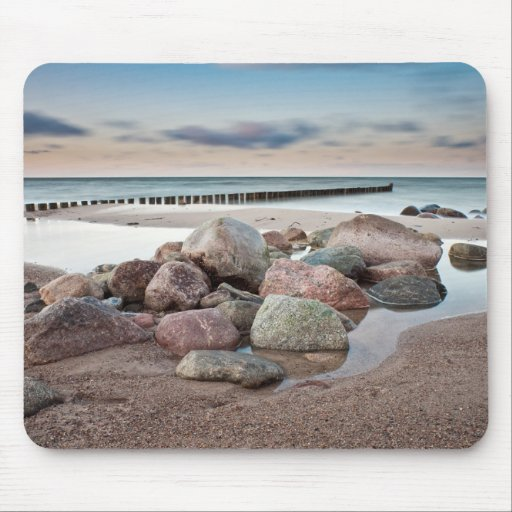 Stones on shore of the Baltic Sea Mouse Pads