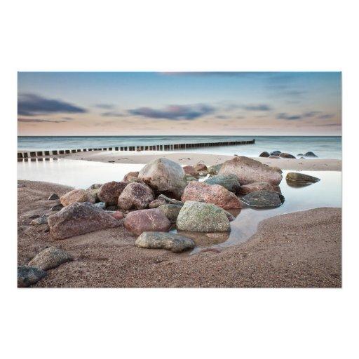 Stones on shore of the Baltic Sea Photo Print