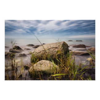 Stones on shore of the Baltic Sea Photo Print