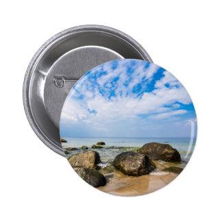Stones on the Baltic Sea coast 6 Cm Round Badge
