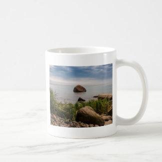 Stones on the Baltic Sea coast Basic White Mug