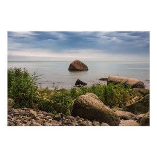 Stones on the Baltic Sea coast Photographic Print