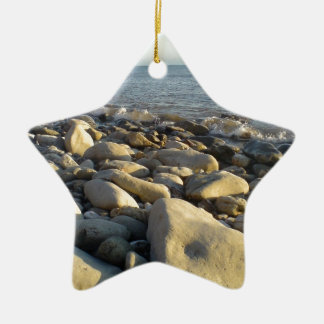 stones on the beach christmas ornament