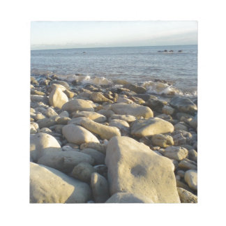stones on the beach notepad