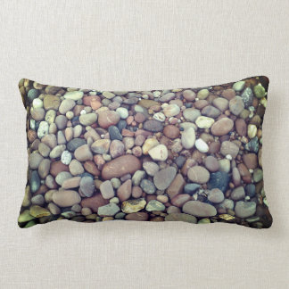 Stones Pebbles Photo Lumbar Pillow