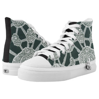 stones printed shoes