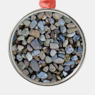 stones rocks texture Silver-Colored round decoration
