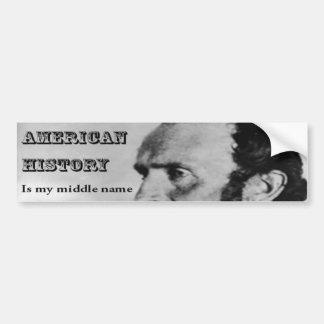 Stonewall Jackson American History Bumper Sticker