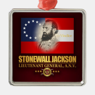 Stonewall Jackson (Southern Patriot) Silver-Colored Square Decoration