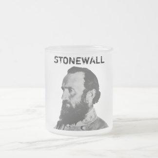 Stonewall 10 Oz Frosted Glass Coffee Mug