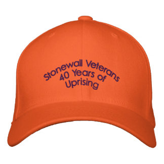 Stonewall Veterans 40 Years of Uprising Embroidered Baseball Cap