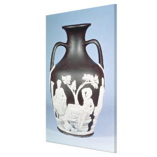 Stoneware, copy of the Portland Vase Canvas Print
