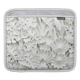 Stonework in a Leaf and Flower Motif iPad Sleeve