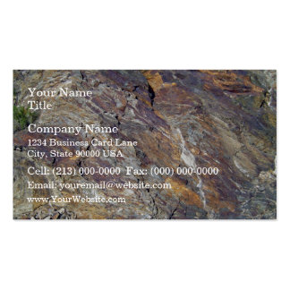 Stony Mountain Landscape Texture Business Card Template
