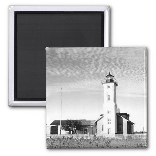 Stony Point Lighthouse Square Magnet