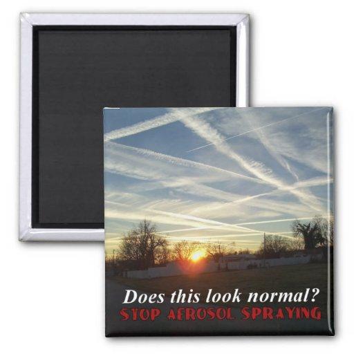 Stop Aerosol Spraying Fridge Magnets