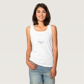 Stop aging at forty women's white basic tank top
