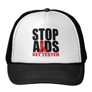 Stop AIDS: Get Tested Cap