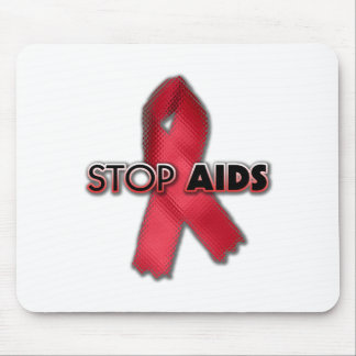Stop AIDS (Line) Mouse Pad