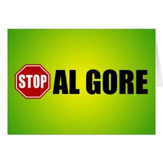 Stop Al Gore Greeting Card