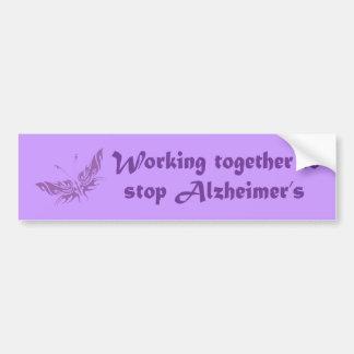 Stop Alzheimer's Bumper Sticker