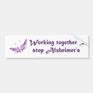 Stop Alzheimer's Disease Bumper Sticker