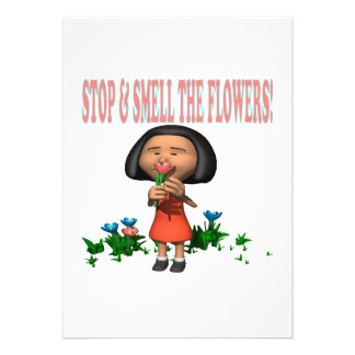 Stop And Smell The Flowers Personalized Invite