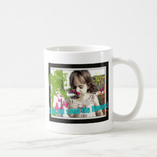stop and smell the flowers coffee mug