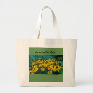 stop and smell the flowers tote bag