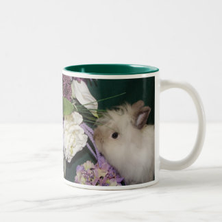 Stop and Smell the Flowers Two-Tone Coffee Mug