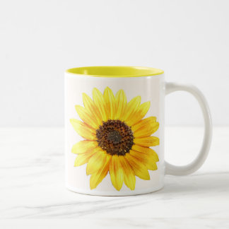 Stop and smell the flowers. Two-Tone mug