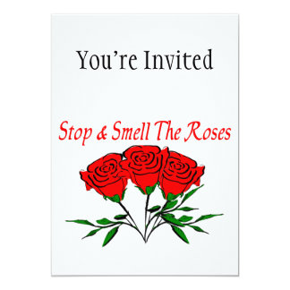 Stop And Smell The Roses 13 Cm X 18 Cm Invitation Card