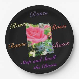 Stop and Smell the Roses Paper Plate