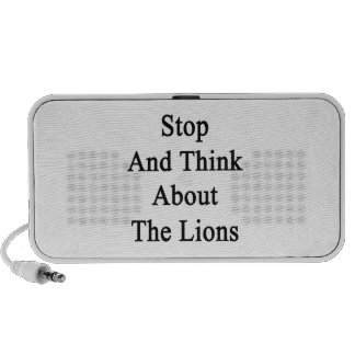 Stop And Think About The Lions iPod Speaker