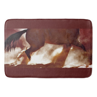 Stop and Turn Bath Mat Western Horse