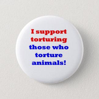 Stop animal abuse 6 cm round badge