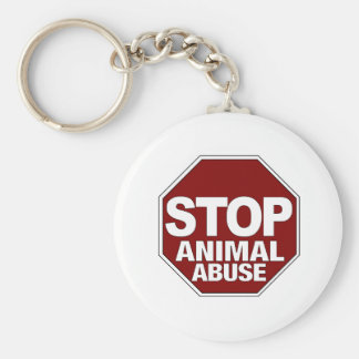 Stop Animal Abuse Key Ring