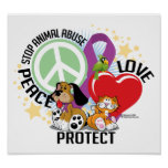 Stop Animal Abuse PLP Posters